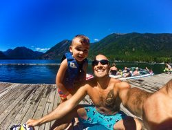 Rob Taylor and LittleMan at Lake Cushman 1