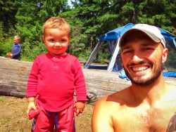 Rob Taylor and TinyMan at Cle Elum River Campground 1