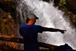 Rob Taylor and TinyMan at Silver Falls Mt Rainier National Park 5