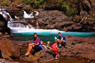 Rob Taylor and friends at Silver Falls Mt Rainier National Park 2