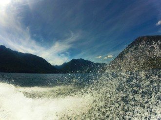 Boating at Lake Cushman Olympic Peninsula 1