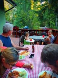 Taylor Family dinner at VRBO at Lake Cushman Olympic Peninsula 1