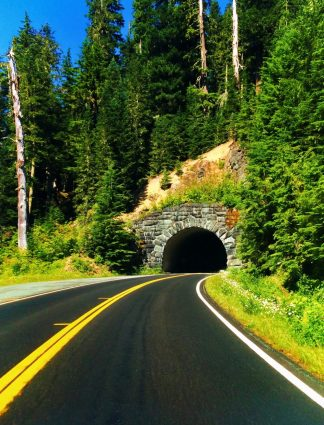 Tunnel on Chinook Pass Highway Mt Rainier National Park 1