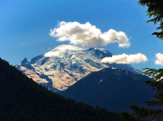 View from Chinook Pass Highway Mt Rainier National Park 1