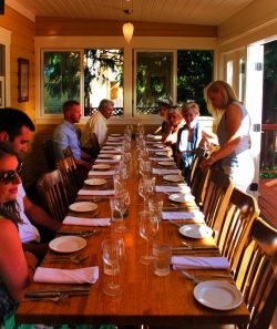 Pretty Fork Destination Dining guests Inn at Ship Bay Orcas Island
