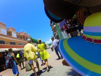 Strolling the streets of Playa del Carmen Mexico
