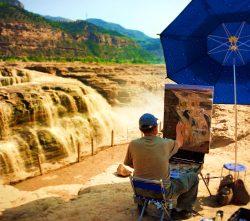 Painting at Hukou Falls Shaanxi 1