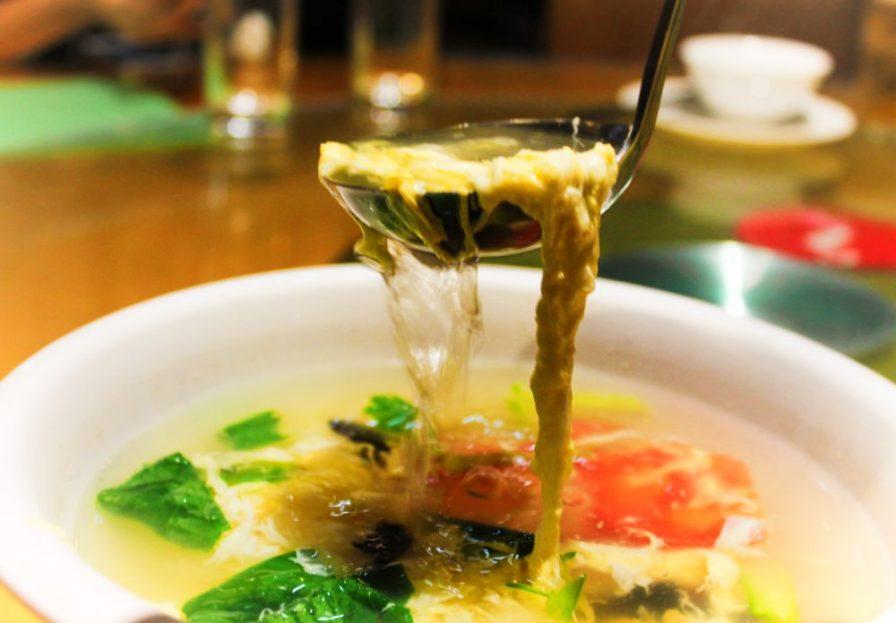 Egg flower soup in Xian