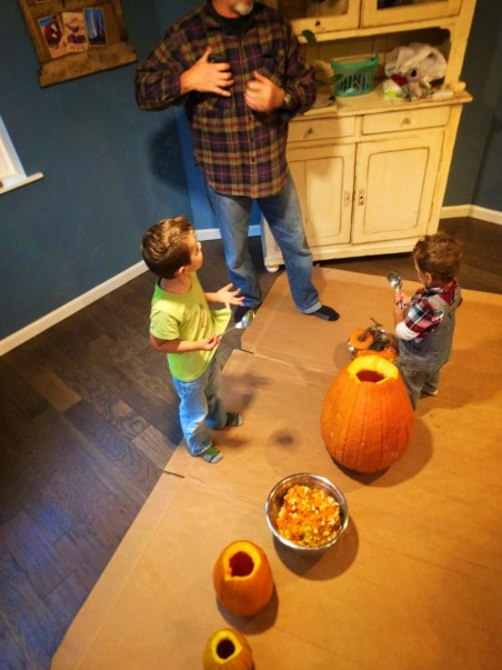 Taylor Family Pumpkin Carving Fall Traditions