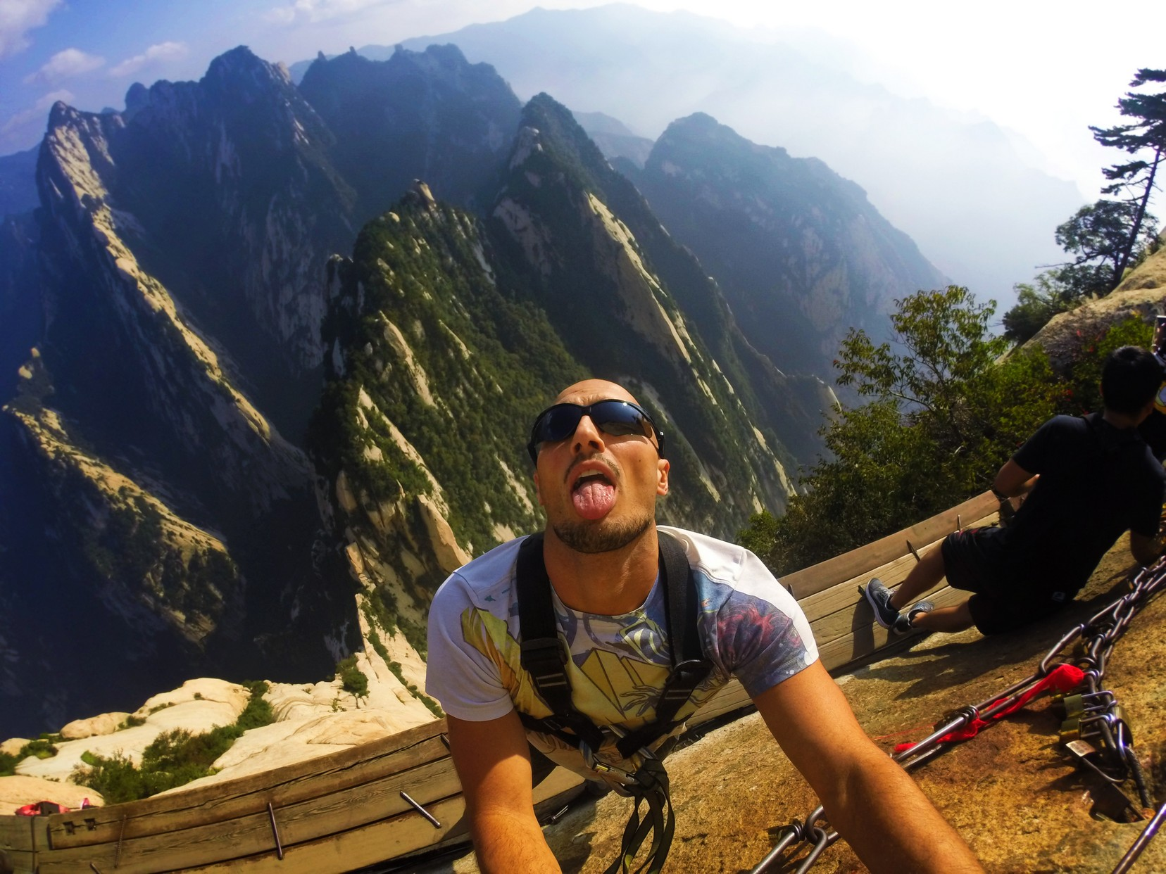 Rob Taylor on Death Planks hike Huashan National Park 3
