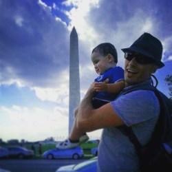 Rob Taylor and LittleMan at Washington Monument Washington DCq