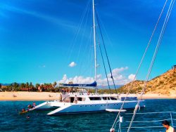 Catamaran snorkeling tour at Chileno Bay Cabo San Lucas