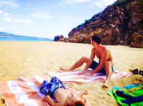 Taylor Family at Cannery Beach Cabo San Lucas