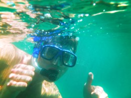 Chris Taylor snorkeling in Chileno Bay Cabo San Lucas