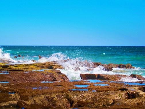 Unusual tidepools at East Cape Beach