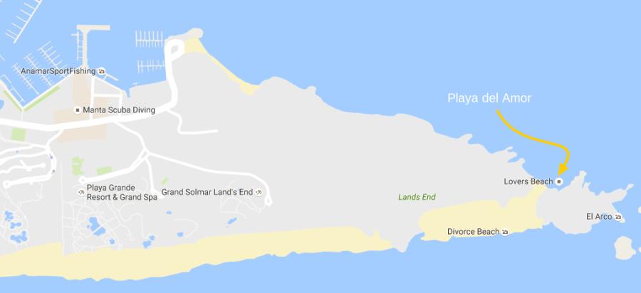 Lovers Beach Cabo San Lucas Map