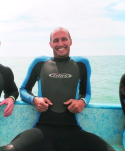 Rob Taylor in Wetsuit at Cabo Pulmo National Park