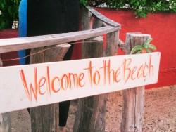 Beach sign at Cabo Pulmo National Park