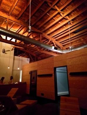 Cedar roof in Loyly spa Portland 2