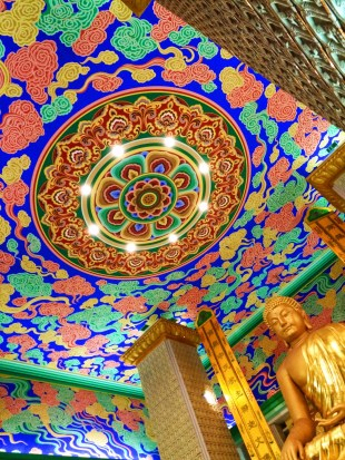 Golden Buddha and Colorful ceiling at Famen Temple Baoji 8