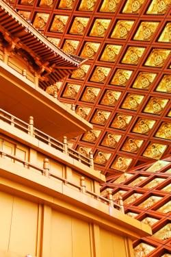 Golden Gilded Buddha Ceiling in Famen Temple Pagoda 1