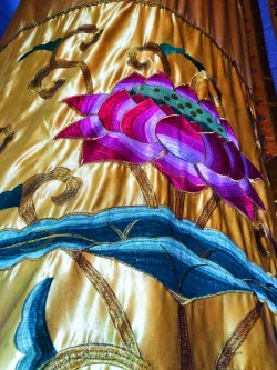Golden Lotus tapestries in Hegashi Dagoba Famen Temple 1