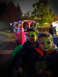 Taylor Kids on Christmas Train at Lights of Life Marietta Georgia 1