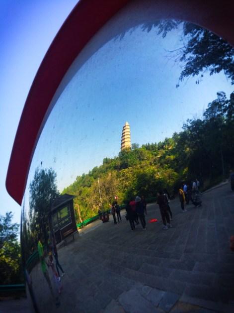 Baota Pagoda Fisheye Mirror Yanan Shaanxi 3