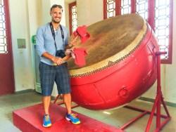 Rob Taylor and Drumtower Drum at Baota Pagoda Yanan Shaanxi 1