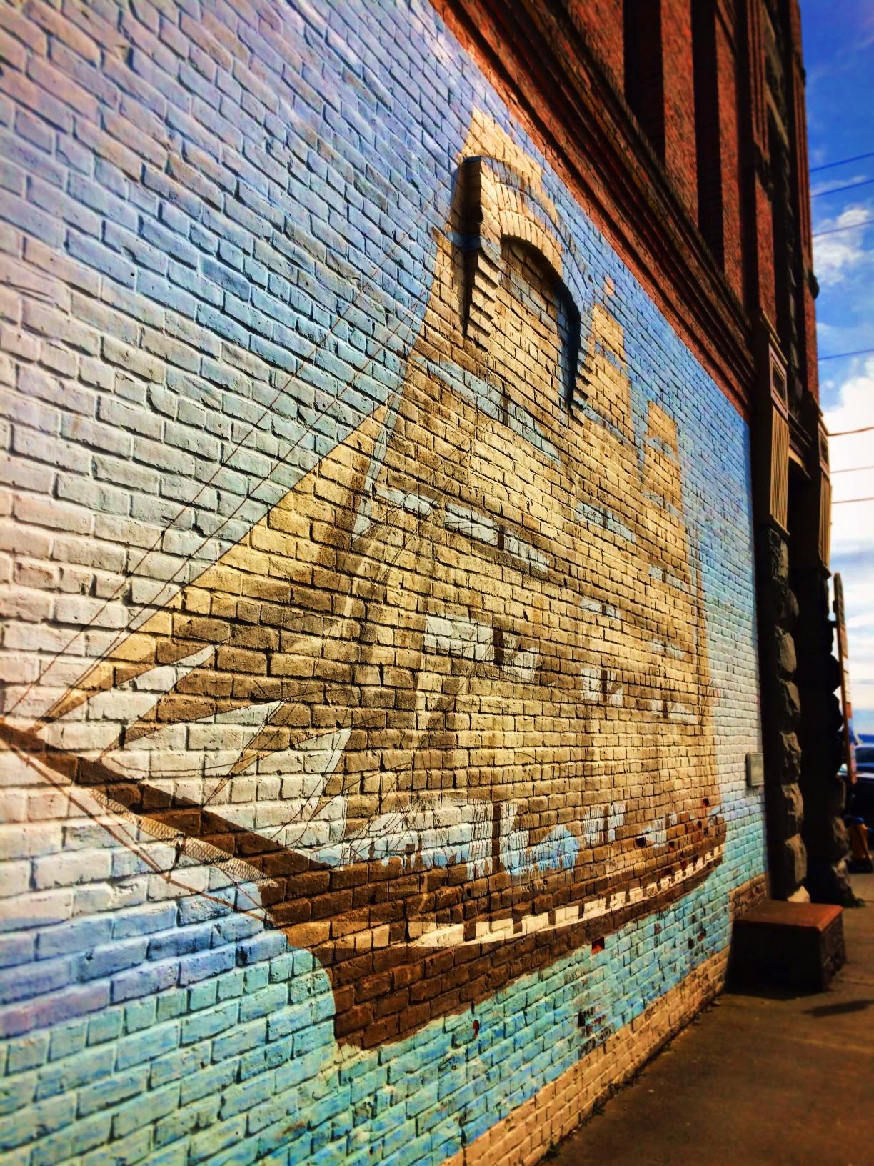 Sailing Ship Mural Victorian Seaport Port Townsend 1