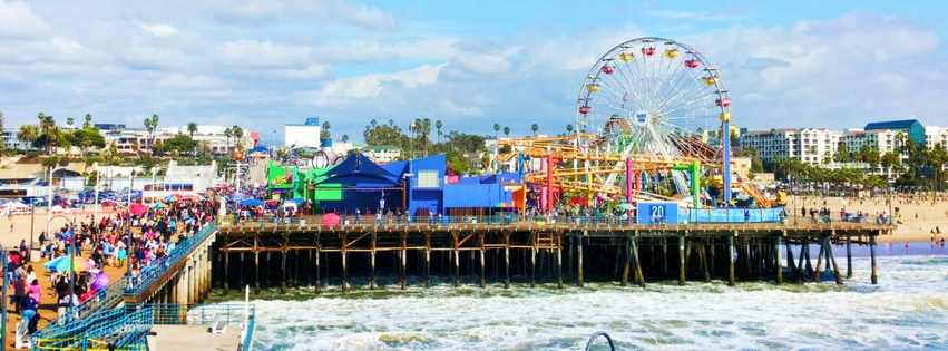 The Santa Monica Pier is one of the most iconic sights on the West Coast, and though loaded with tourists, is the perfect plan for an afternoon in the Los Angeles area. From the beach to the ferris wheel nothing could be more Southern California. 2traveldads.com