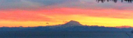 Sunrise with Mt Baker over Straight of Juan de Fuca 1