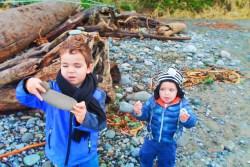 Taylor Kids at Dungeness Spit National Wildlife Refuge Sequim 5