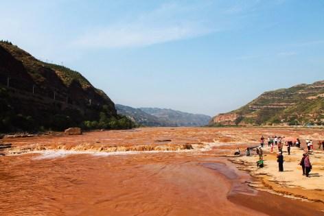 Yellow River at Hukou Falls National Park Shaanxi 1