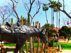 Horse statue at Mission San Juan Capistrano 1