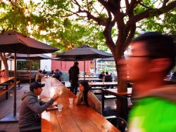 Outdoor beer garden space at Grand Central Market Los Angeles 1