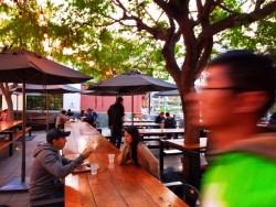 Outdoor beer garden space at Grand Central Market Los Angeles 1