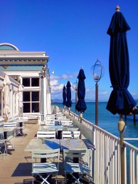 Outdoor dining on the water in Sausalito 1