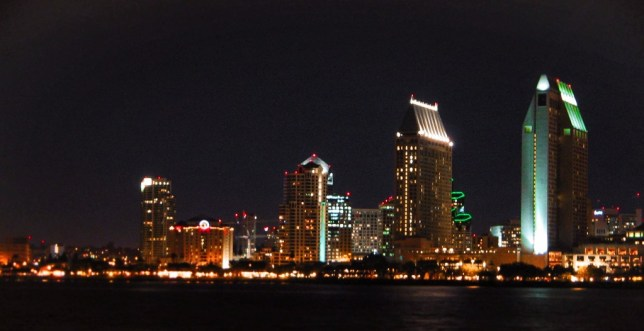 San Diego skyline at night 1
