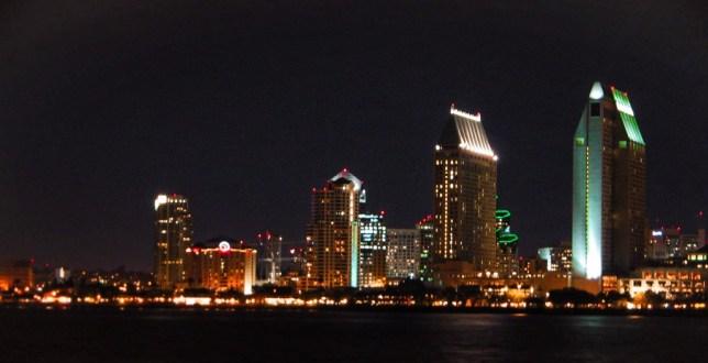 San Diego skyline at night 1