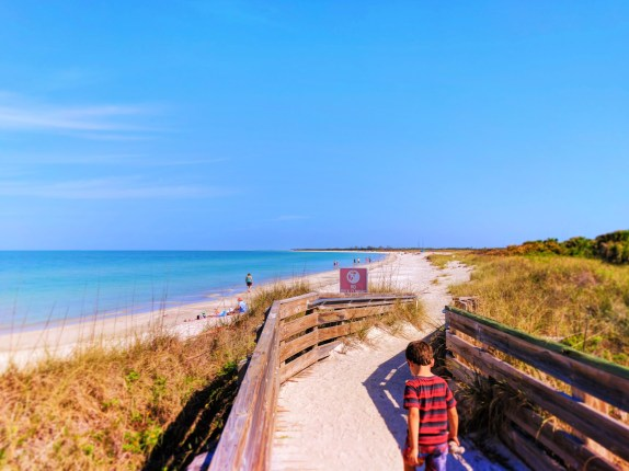 Beach at Fort De Soto Park Campground Pinellas County Florida 3
