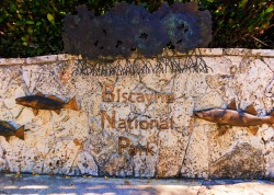 Entrance sign at Biscayne National Park 1