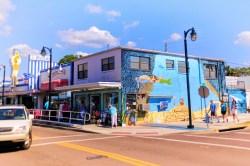 Mermaid Mural in Downtown Tarpon Springs Florida 1