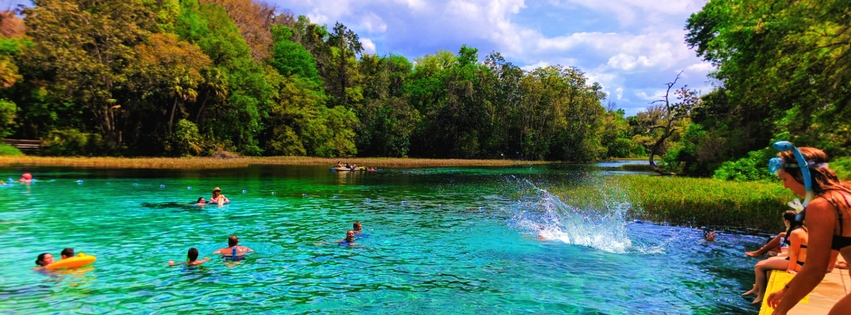 Rainbow Springs State Park is the most magical, colorful escape in Florida's back country. From crystal clear springs to waterfalls, it's the perfect contrast to Florida's swamps and beaches. 2traveldads.com