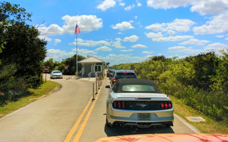 Shark Valley Entrance traffic Everglades National Park 1