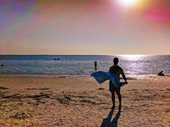 Taylor Family at Beach in Tarpon Springs Florida 3