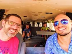 Taylor Family in Escape Campervan Miami Beach 1