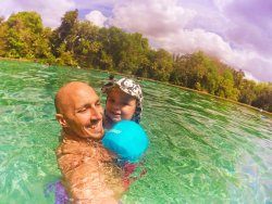 Taylor Family in Rainbow River at Rainbow Springs State Park 2