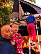 Taylor family and Escape Campervan at Collier Seminole State Park Naples 1