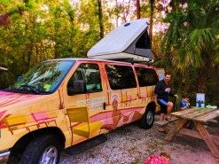 Taylor family and Escape Campervan at Collier Seminole State Park Naples 4